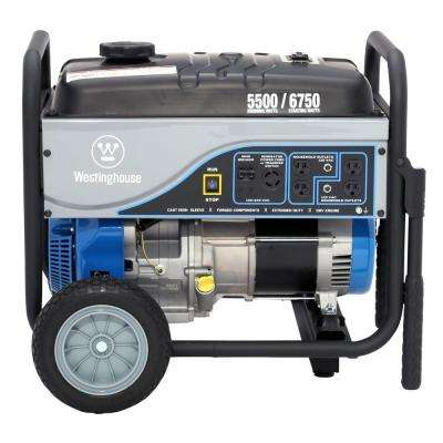 5,500/6,750-Watt Gasoline Powered Powered Portable Generator