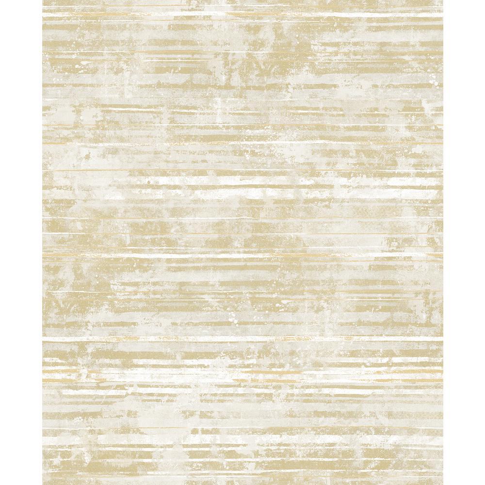 Makayla Apricot Stripe Wallpaper Sample