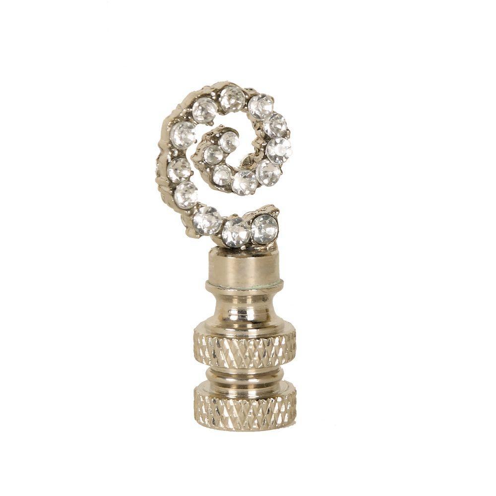 Mario Industries Glass Gem Swirl Lamp Finial-DISCONTINUED