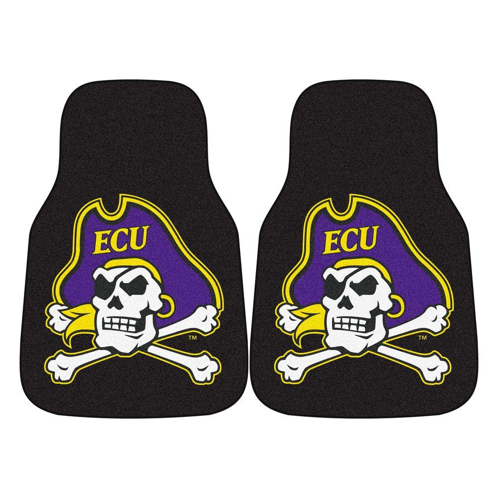 East Carolina University 18 in. x 27 in. 2-Piece Carpeted Car