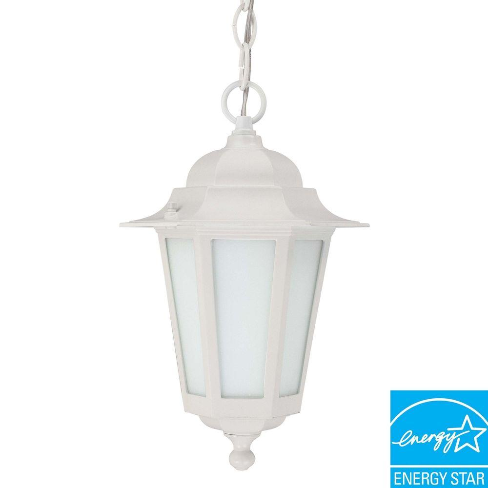 Green Matters Hanging Outdoor White Lantern