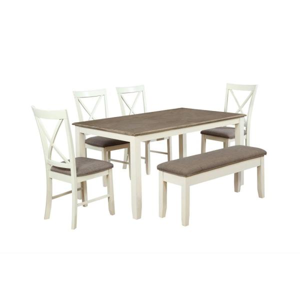 Powell Company Jane 6 Piece Dining Set 15d8153pc6 The Home Depot