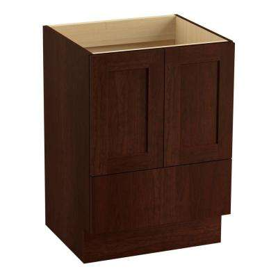 Poplin 24 in. Bath Vanity Cabinet Only in Cherry Tweed