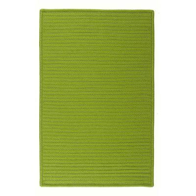 Home Decorators Collection Solid Bright Green 10 ft. x 10 ft. Indoor/Outdoor Braided Area Rug