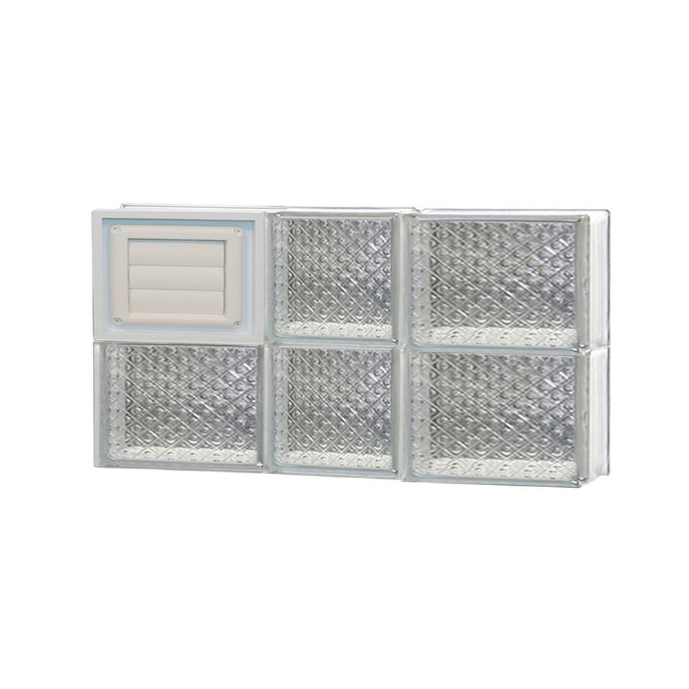Clearly secure in x 11 5 in x in frameless for Pre assembled glass block windows