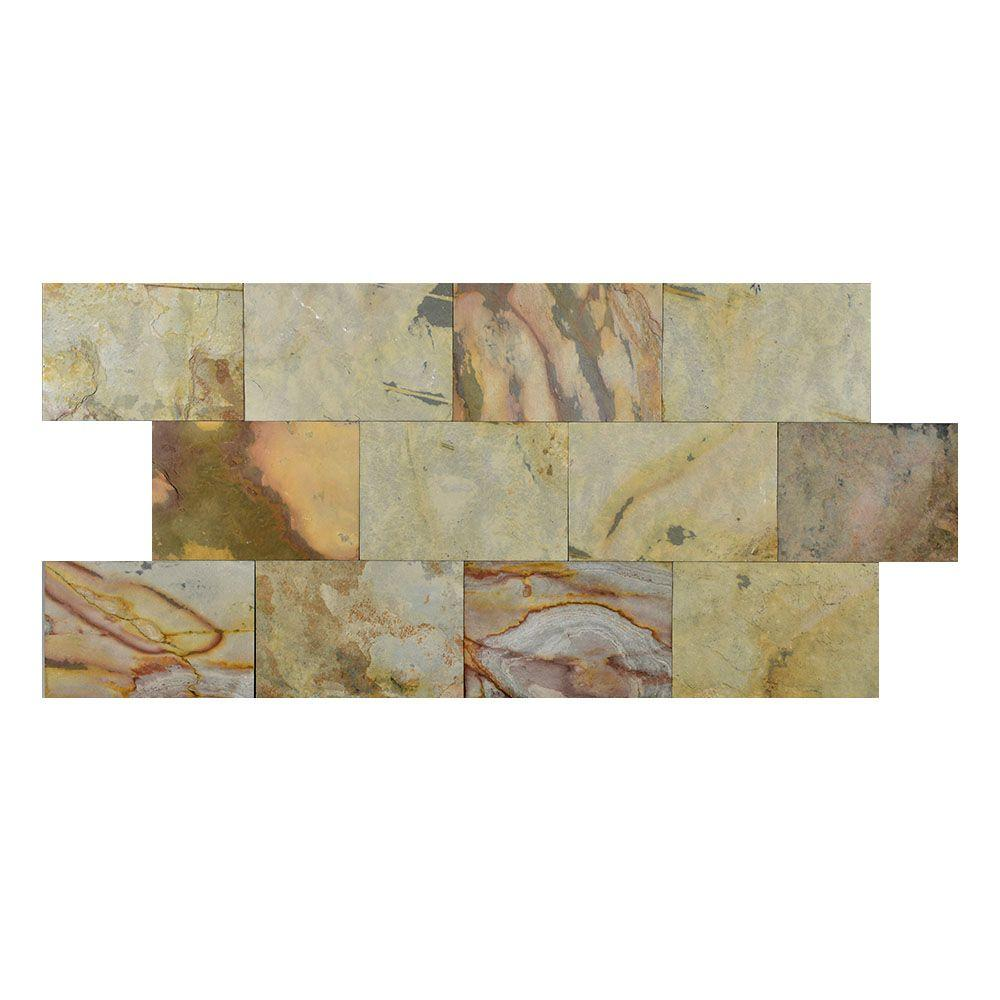 Indian Autumn 6 in. x 9 in. Slate Peel and Stick