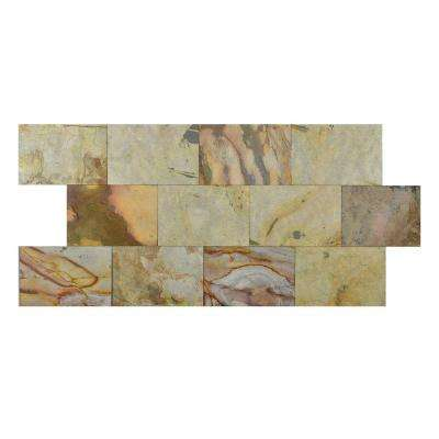 Indian Autumn 6 in. x 9 in. Slate Peel and Stick Wall Tile (4.5 sq. ft. / pack)