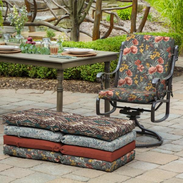 Arden Selections 20 In X 24 In Phoebe Floral Outdoor Chair Cushion Tk06170b D9z1 The Home Depot