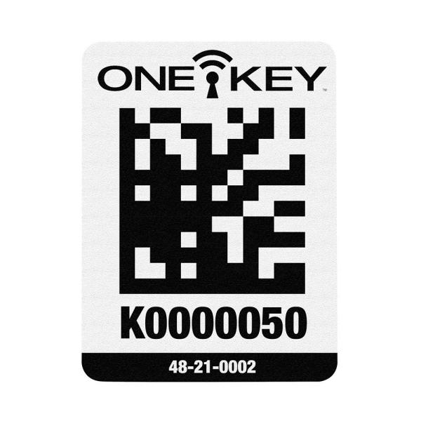 Large ONE-KEY Asset ID Tags For Plastic Surfaces (25-Tags)