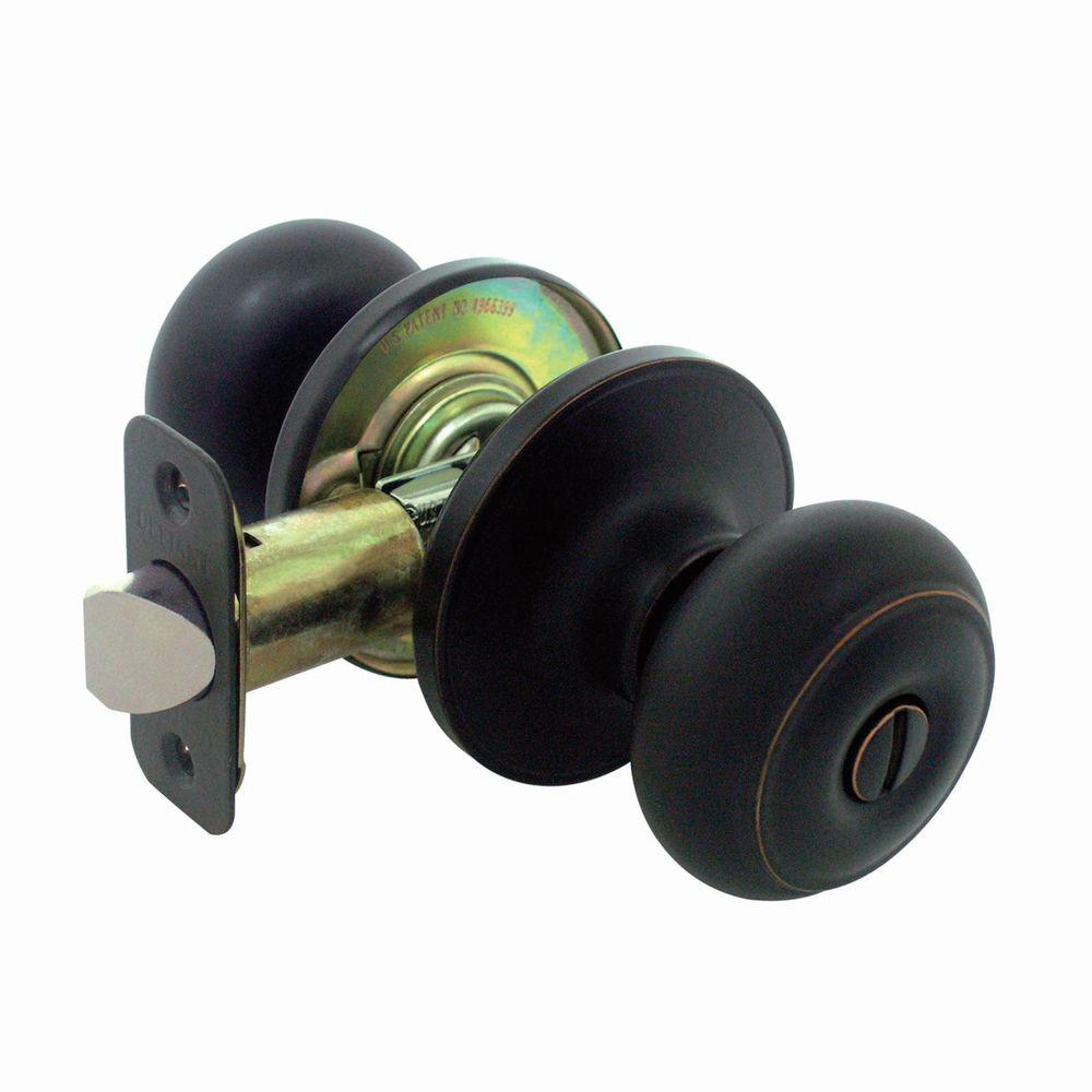 Defiant Hartford Aged Bronze Privacy Bed/Bath Door Knob