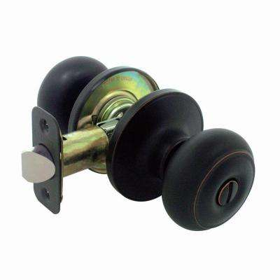 Hartford Aged Bronze Privacy Bed/Bath Door Knob