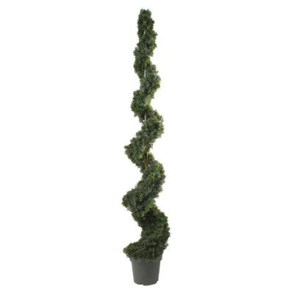 6 ft. Indoor/Outdoor Cedar Spiral Silk Tree
