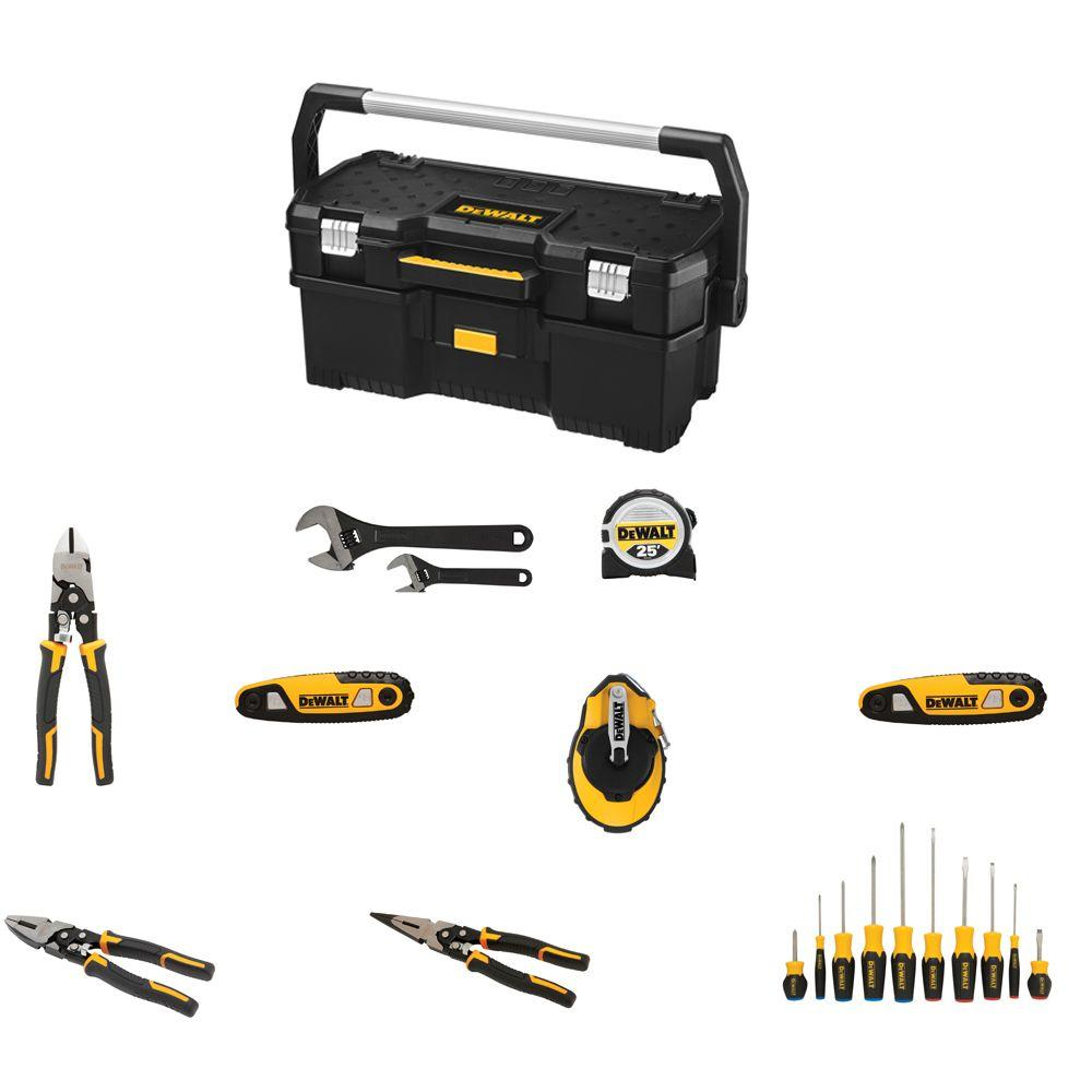Hand Tool Combo Kit with Tote (20-Piece)