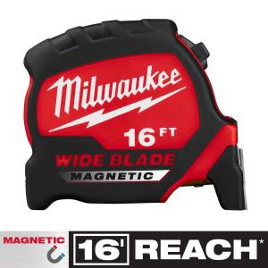 16 ft. x 1.3 in. Wide Blade Magnetic Tape Measure with 17 ft. Reach