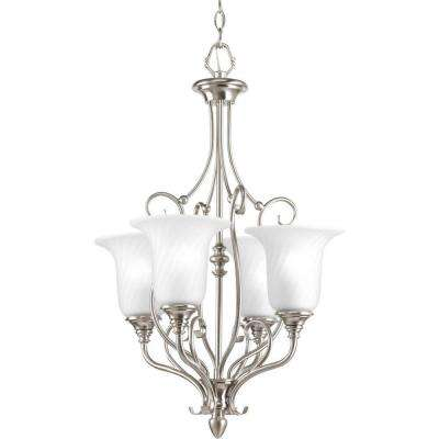Kensington Collection 4-Light Brushed Nickel Foyer Pendant