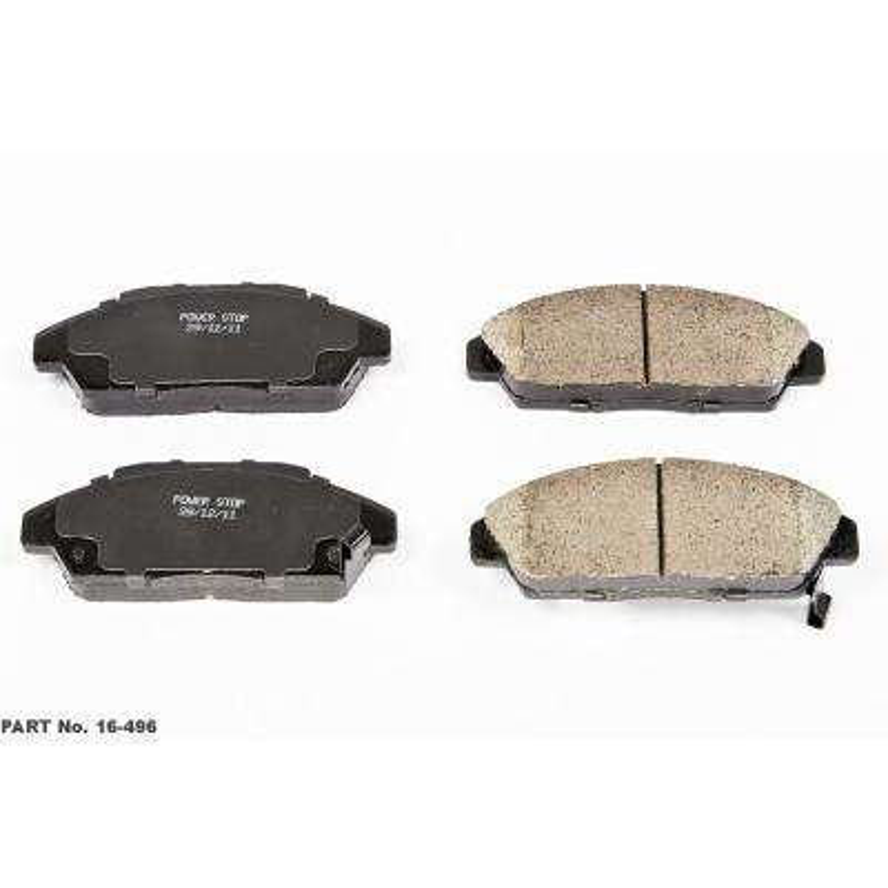 Front Evolution Ceramic Disc Brake Pad fits 1990-1993 Honda Accord