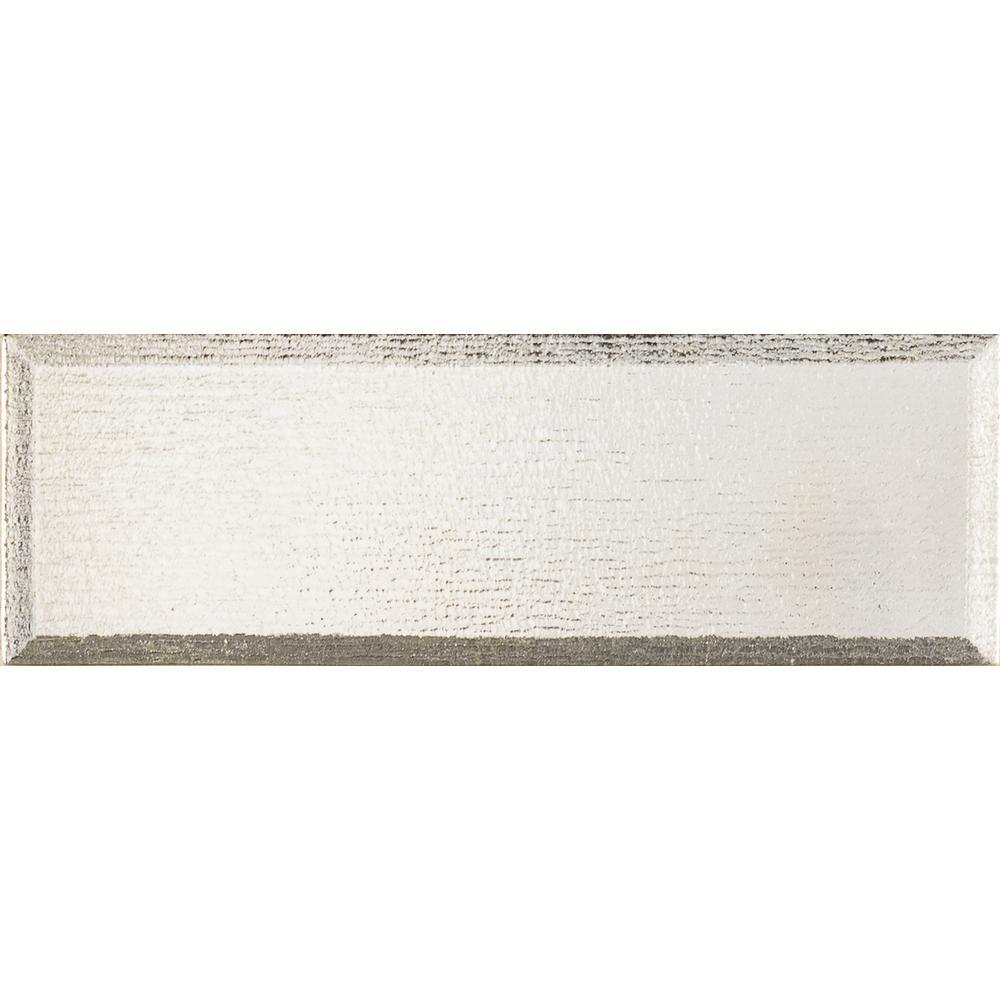 Msi Silver Glisten Beveled 4 In X 12 Gl Wall Tile 0 33