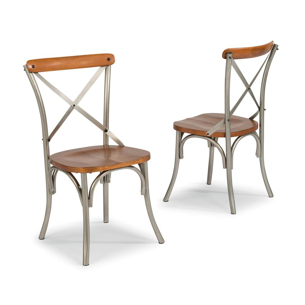 Home Styles Orleans Carmel Cherry Dining Chairs (Set Of 2)