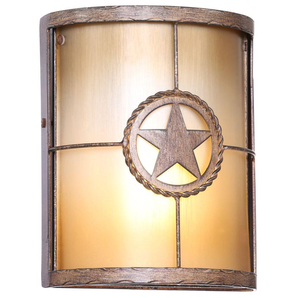 1 light sconce lighting desert sands outdoor wall mount lone star exterior new 718212172087 ebay for Exterior light sconce