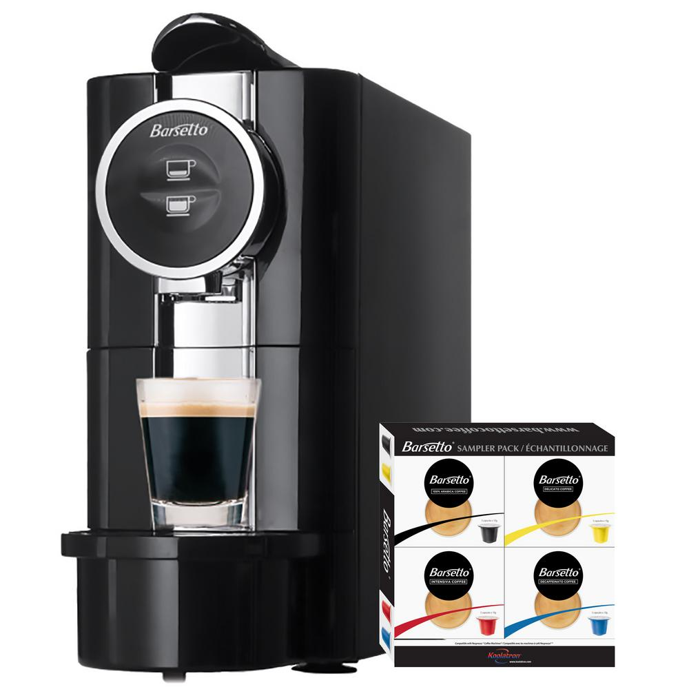 4-Cup Espresso Machine, Black