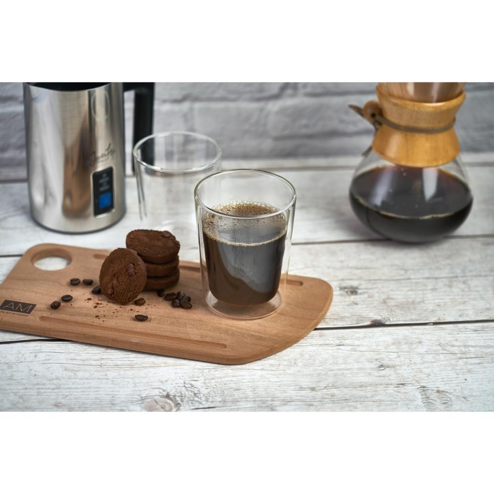 Double Wall Glass Mugs Large Coffee Mugs Sleek Tea Set (Set of 8)