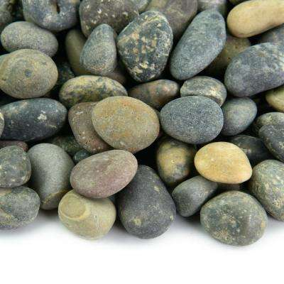 20 lbs. of Mixed 3/8 in. to 5/8 in. Mexican Beach Pebbles