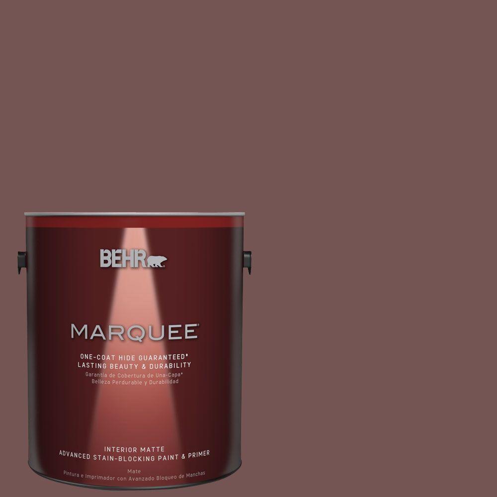 BEHR MARQUEE 1 gal. #MQ1-53 Rosy Sandstone One-Coat Hide Matte Interior Paint