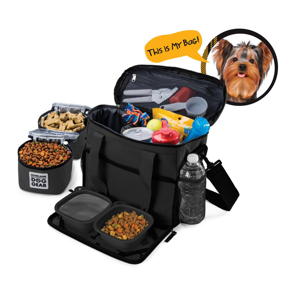 Overland Dog Gear Week Away Travel Bag For Accessory Sm Dogs In Black