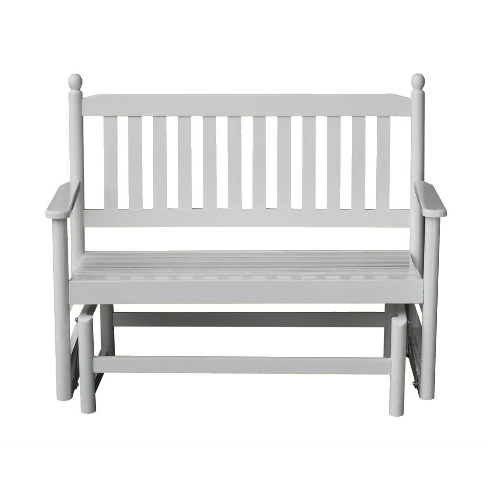 Etonnant 2 Person White Wood Outdoor Patio Glider