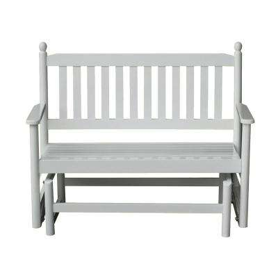 2-Person White Patio Glider