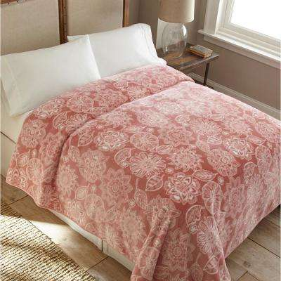 90 in. x 90 in. High Pile Fantasy Raschel Knit Coverlet