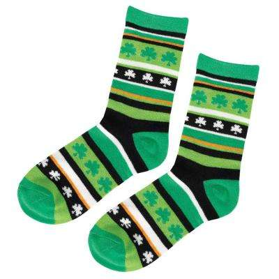 Shamrock and Stripe St. Patrick's Day Crew Socks (2-Count, 4-Pack)