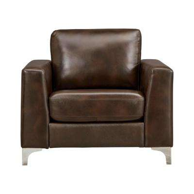 Russel Chocolate Leather Arm Chair