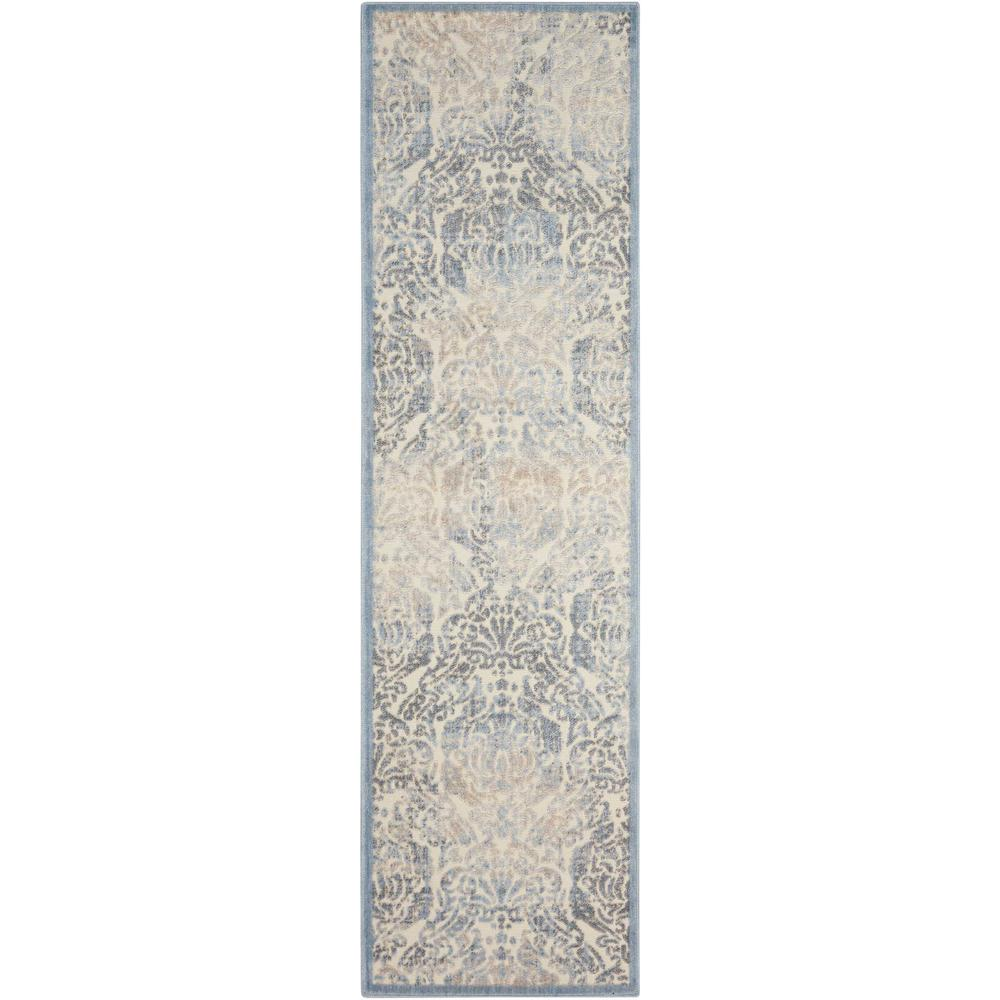 Nourison Graphic Illusions Sky 2 ft. x 8 ft. Runner Rug