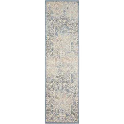 Graphic Illusions Sky 2 ft. x 8 ft. Runner Rug