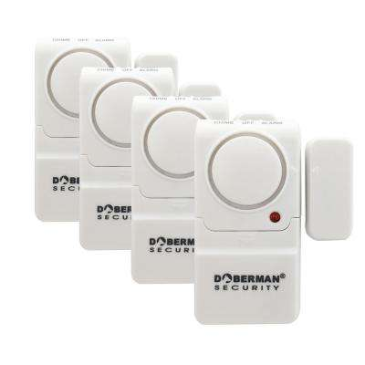 Mini Entry Defender Wireless Door and Window Alarm with Chime in White (4-Pack)