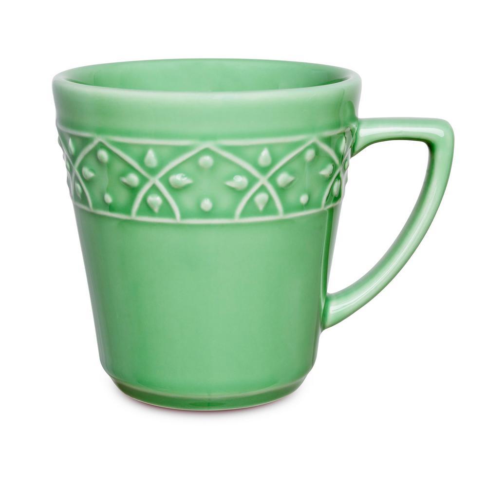 Manhattan Comfort Mendi 12.17 oz. Green Earthenware Mugs (Set of 6) was $69.99 now $34.98 (50.0% off)