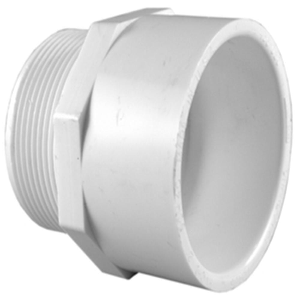 Charlotte Pipe 2 in. PVC Sch. 40 MPT x S Male Adapter