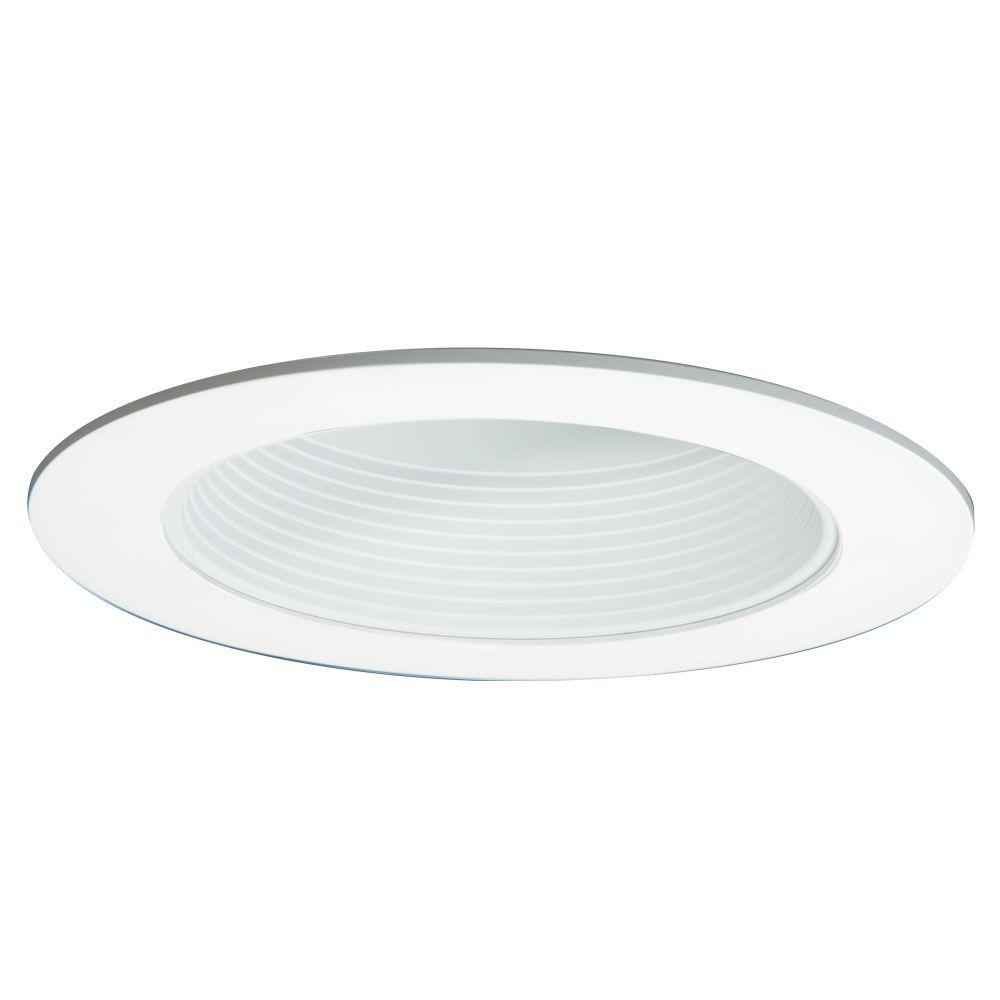 Halo 6 in. White Baffle Trim with Solite Regressed Lens for Recessed LED Lighting