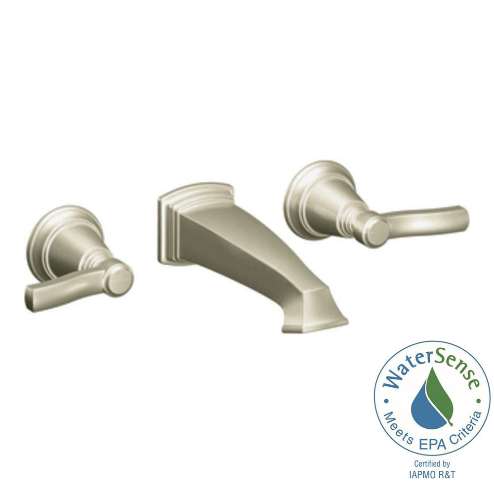 MOEN Rothbury 2-Handle Wall-Mount Sink Faucet Trim Kit in Brushed Nickel (Valve Not Included)