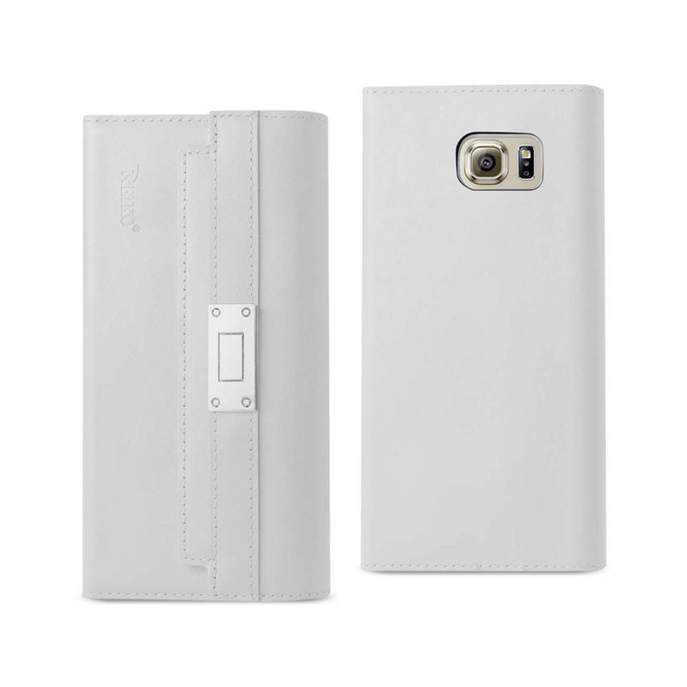 REIKO Galaxy S6 Genuine Leather Design Case in Ivory