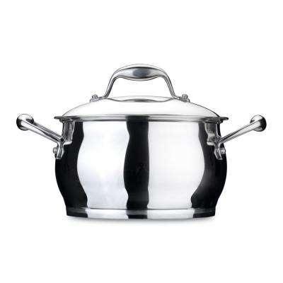 Zeno 4 Qt. 18/10 Stainless Steel Dutch Oven with Lid