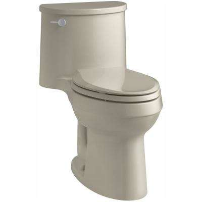 Adair Comfort Height 1-piece 1.28 GPF Single Flush Elongated Toilet with AquaPiston Flush Technology in Sandbar