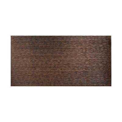 Ripple Horizontal 96 in. x 48 in. Decorative Wall Panel in Smoked Pewter
