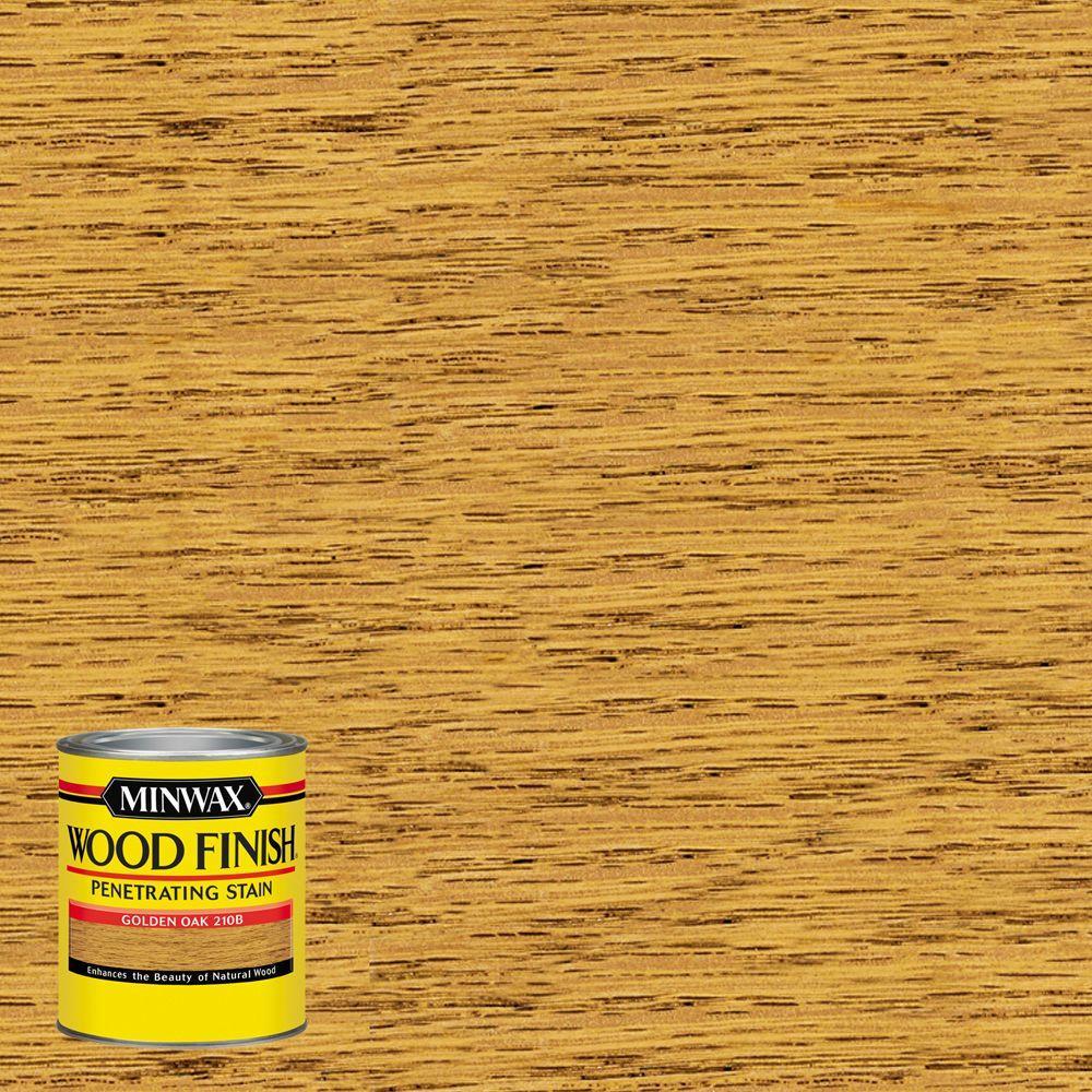 8 oz. Wood Finish Golden Oak Oil Based Interior Stain (4-Pack)