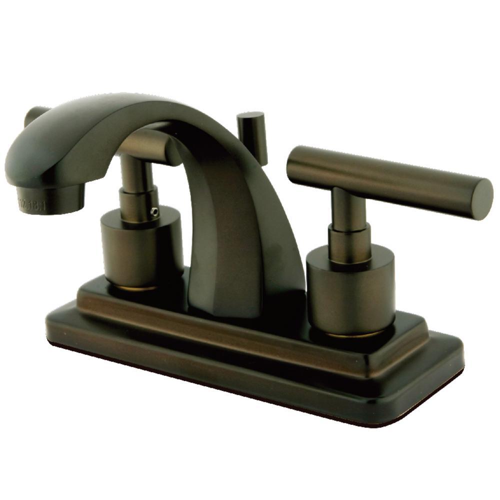 Manhattan 4 in. Centerset 2-Handle Bathroom Faucet in Oil Rubbed Bronze