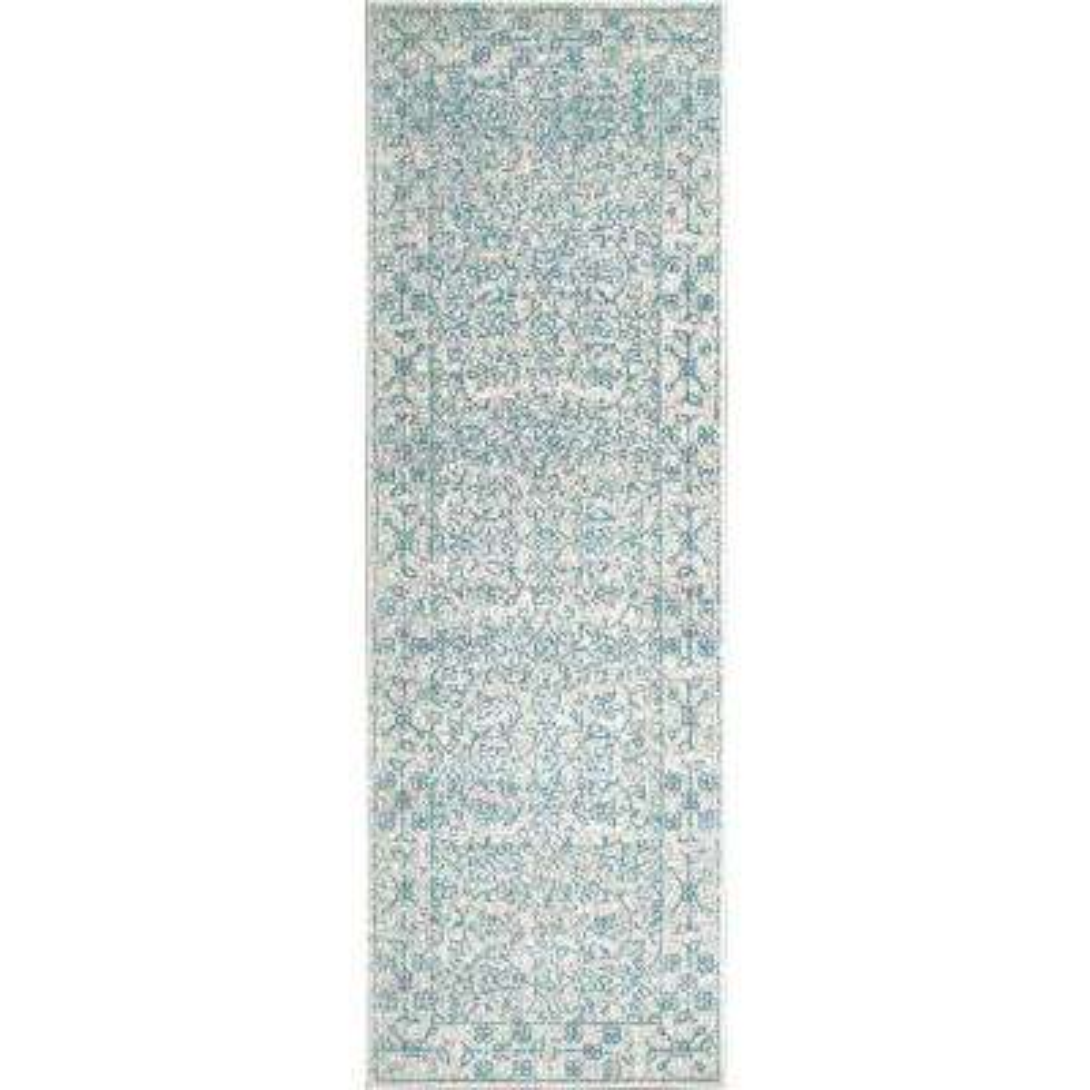 Vintage Waddell Blue 2 ft. 8 in. x 8 ft. Runner Rug