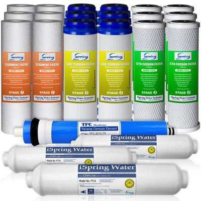 LittleWell 3-Year Filter Pack for RCC7 RCC7P RCC7U RCW5 and Standard 5-Stage Reverse Osmosis Systems