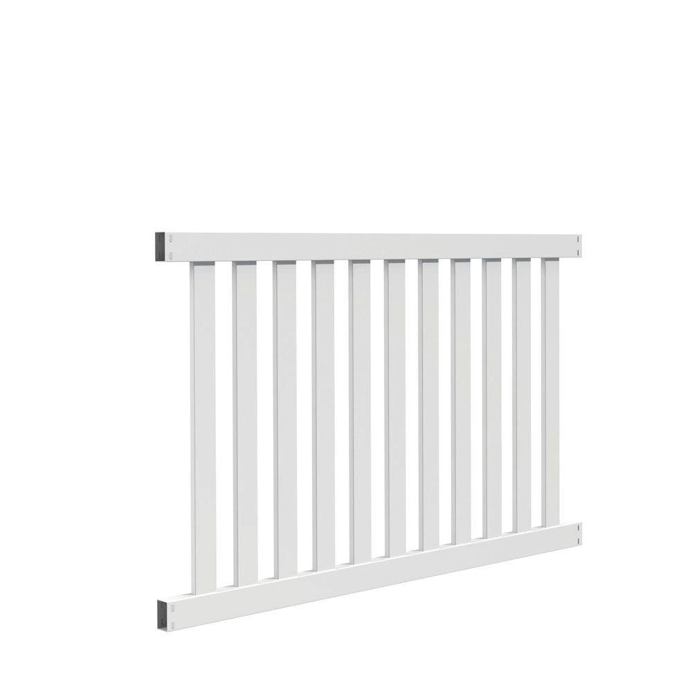 vinyl fence panels home depot. W White Vinyl Fence Panel Kit-73014450 - The Home Depot Panels L