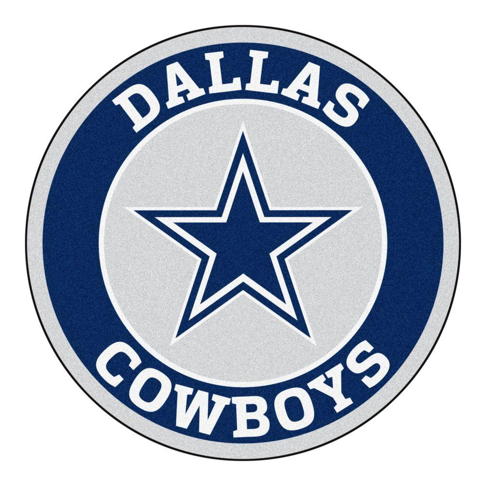 fanmats nfl dallas cowboys navy 2 ft round area rug 17956 the